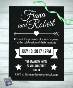 Alternative Wedding Invitations