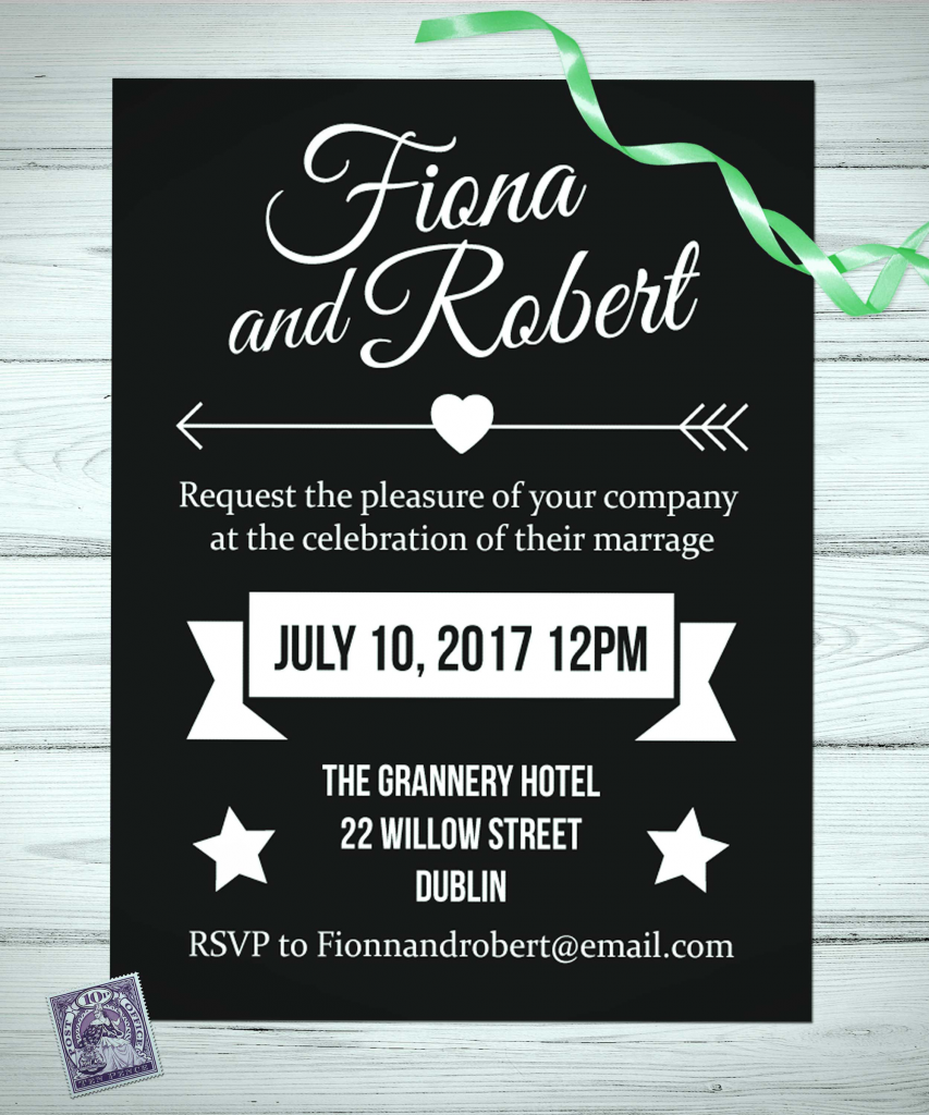 Slate Wedding Invitations