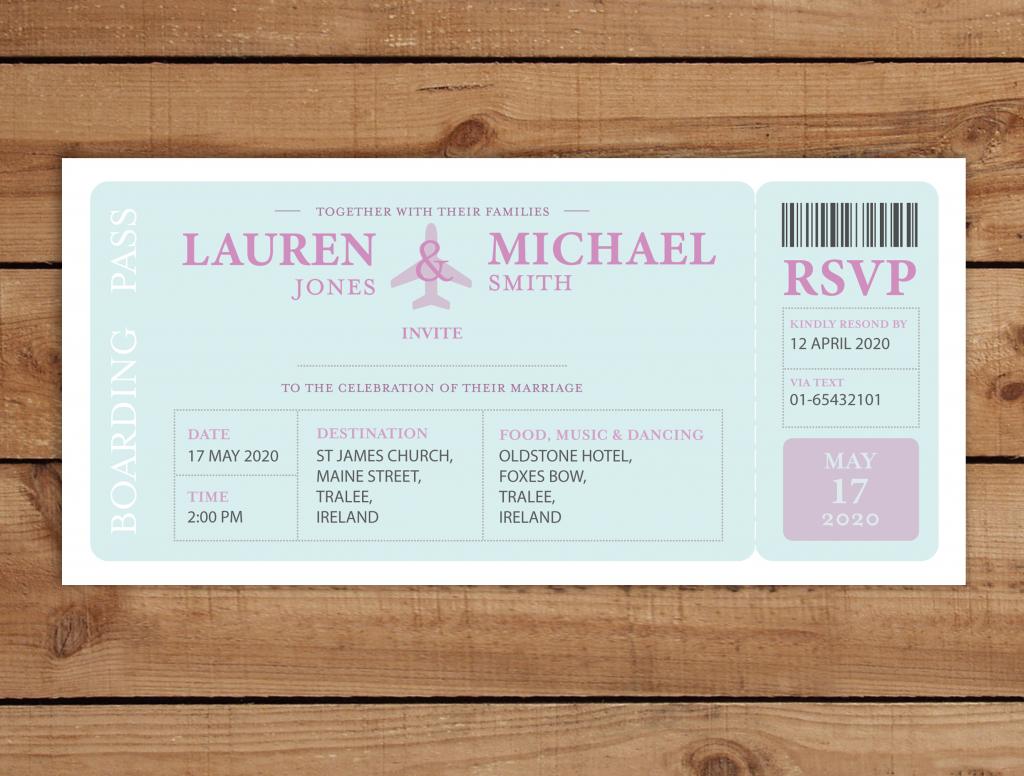Boarding pass wedding invitations alternative wedding invitations boarding pass wedding invitations stopboris Choice Image