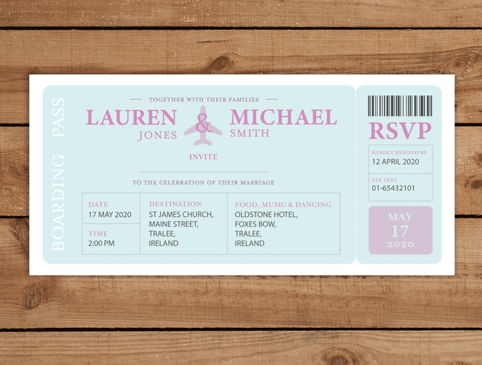 Boarding Pass Wedding Invitation: Let Your Big Day Stand Out
