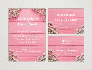 Floral Chic Wedding Invitations