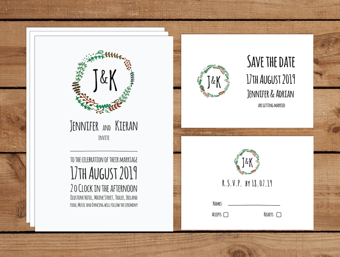 Couples Logo Wedding Invitations