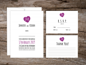 Love Logo Wedding Invitations
