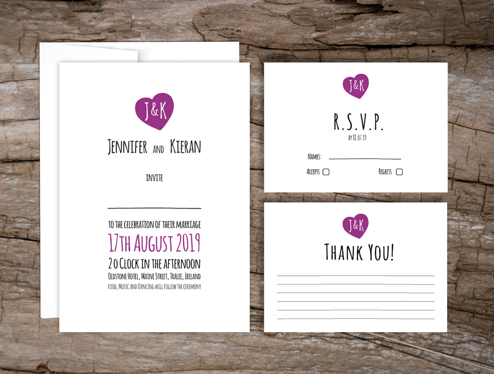 Love Logo Wedding Invitations