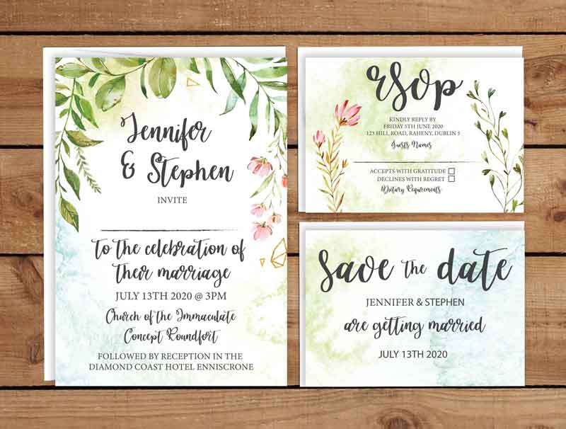 Bohemian Wedding Invitation theme