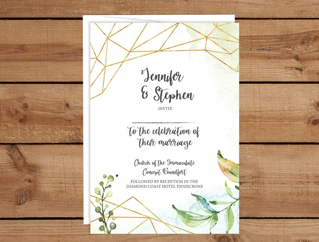 Bohemian Frame Wedding Invitations