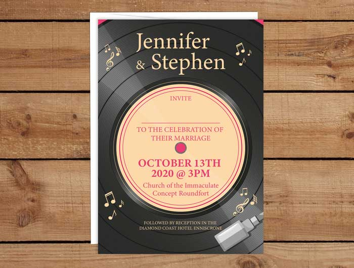 Vinyl Wedding Invitations