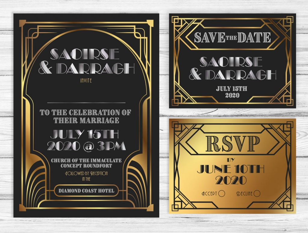 Great Wedding Invites: The Great Gatsby Wedding Invitations