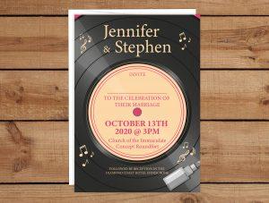 Vinyl Wedding Invitations