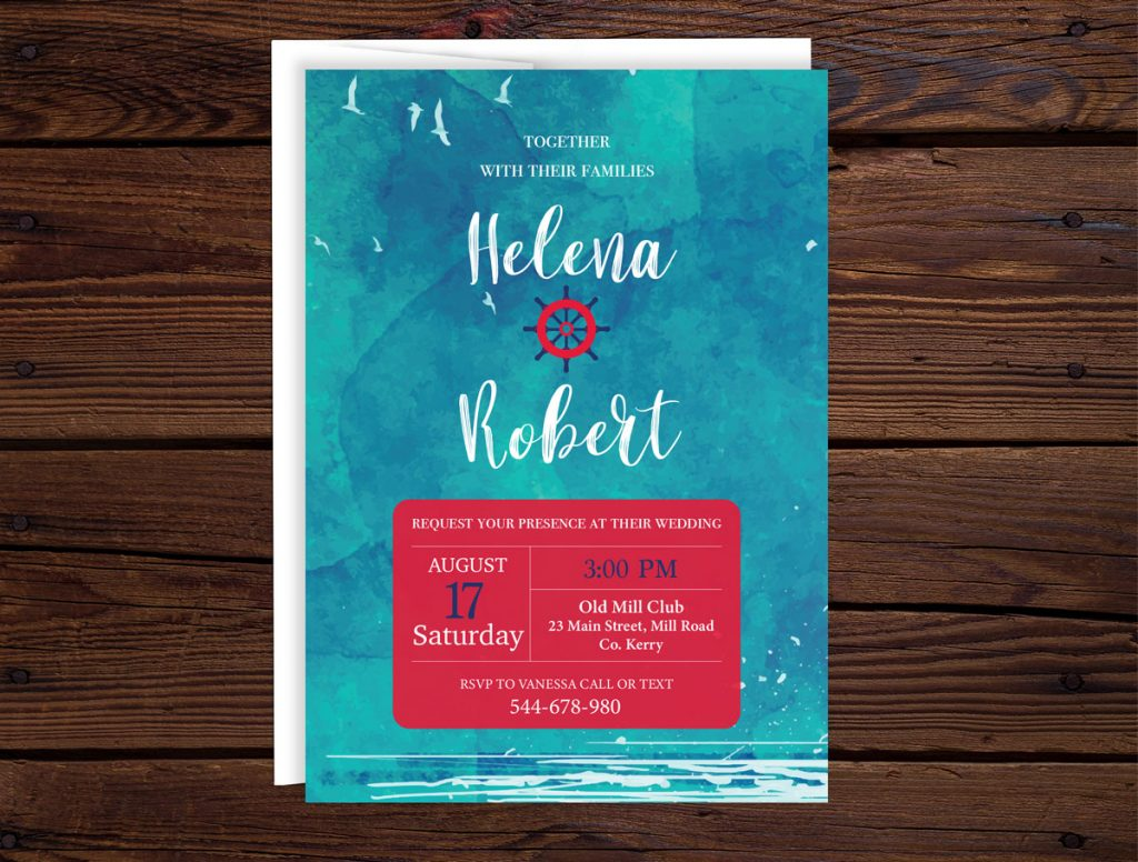 Sea Side Wedding Invitations